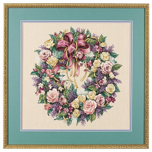 Купить Dimensions Набор для вышивания Wreath of Roses (Венок из роз), 41 х 41 см (3837), Наборы для вышивания