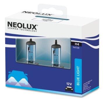 Купить Лампа автомобильная галогенная Neolux Blue Light NL-472B2 60/55W 2 шт. по низкой цене с доставкой из Яндекс.Маркета