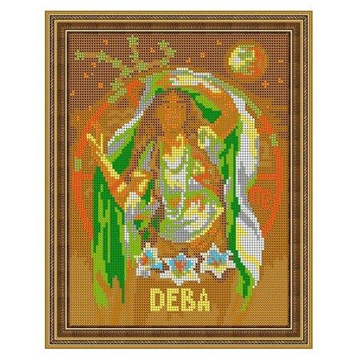 Светлица Набор для вышивания бисером Дева 19 х 24 см, бисер Чехия (475П)