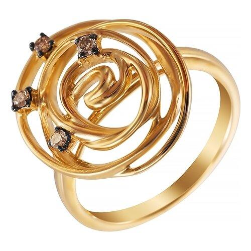 цена на JV Кольцо с 4 бриллиантами из жёлтого золота AAS-3785R-KO-DN-YG, размер 17