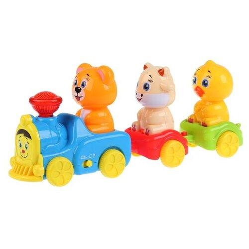 Развивающая игрушка Умка Музыкальный поезд голубой/красный/зеленый/желтый