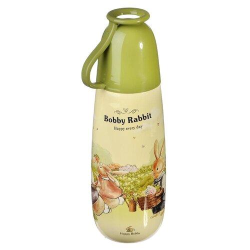 Бутылка для безалкогольных напитков Хуанъянь Ваньфэн Пластик Фэктори Зайчата 0.65 пластик зеленый