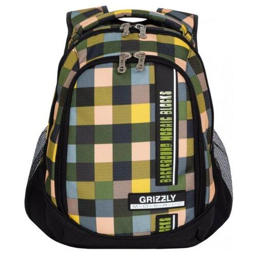 Рюкзак Grizzly RU-925-2 14.5 квадраты цветные