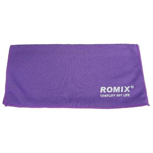 Romix Полотенце охлаждающее RH24 для спорта 30х90 см фиолетовыйПолотенца<br>