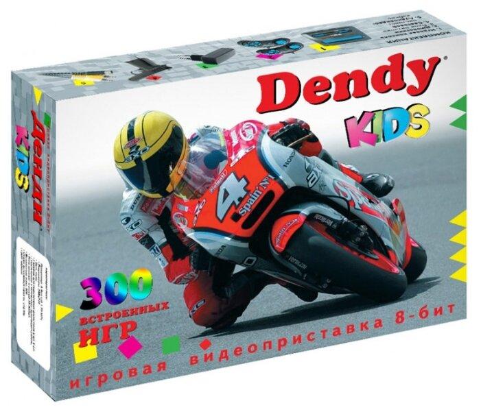 Игровая приставка Dendy Kids 300 встроенных игр + световой пистолет