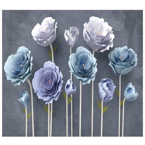 Фотообои флизелиновые Design Studio 3D Загадочные цветы 3х2.7м серый/фиолетовый/голубой недорого