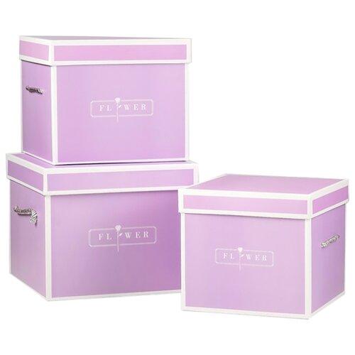 Набор подарочных коробок Yiwu Zhousima Crafts Лавандовые сны, 3 шт сиреневый