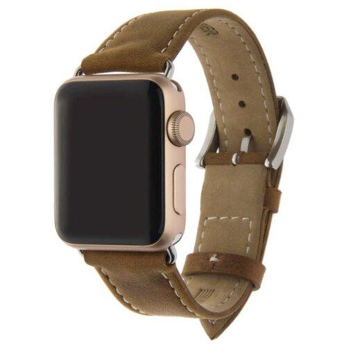 INTERSTEP Ремешок CLASSIC для Apple Watch 38/40 мм, натуральная кожа коричневый