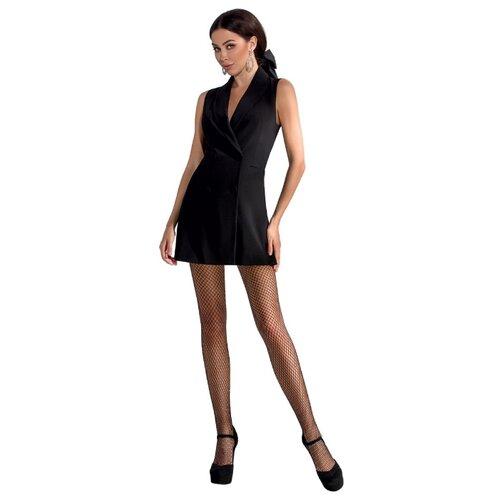 Passion Изящные женские колготки в сеточку, черный, 3-4 размер