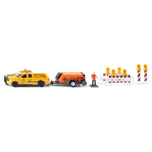 Набор техники Siku Dodge RAM 1500 с компрессором (3505) 1:50 желтый/оранжевый