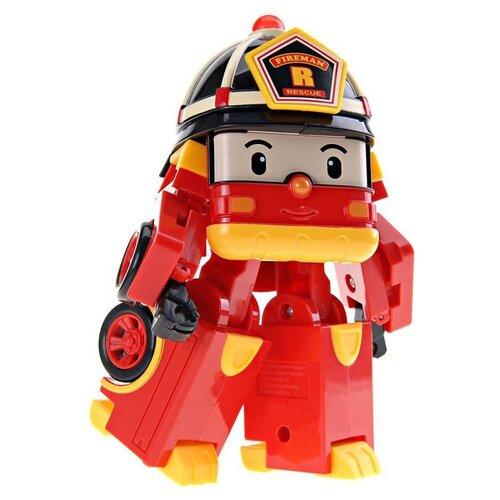 Купить Робот-трансформер Silverlit Robocar Poli Рой 12, 5 см с подсветкой и аксессуарами красный/желтый, Роботы и трансформеры