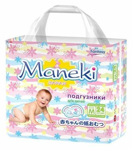 Maneki подгузники Fantasy M (6-11 кг) 24 шт.