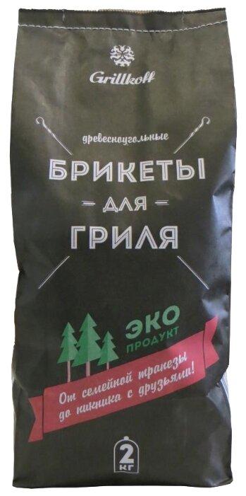 Grillkoff Древесно-угольные брикеты для гриля, 2 кг
