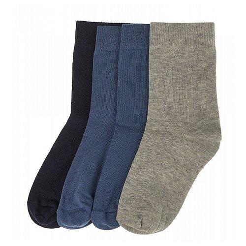 Купить Носки Oldos комплект 4 пары размер 29-31, джинс/джинс/темно-синий/серый
