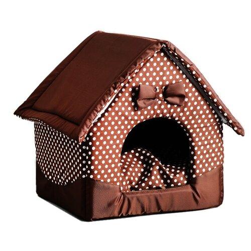 Фото - Домик для собак и кошек Сима-ленд Нежность (4996439) 34х32х37 см коричневый туалет лоток для кошек сима ленд 3275758 3275759 3275760 3275761 33 5х25х6 см бежево коричневый