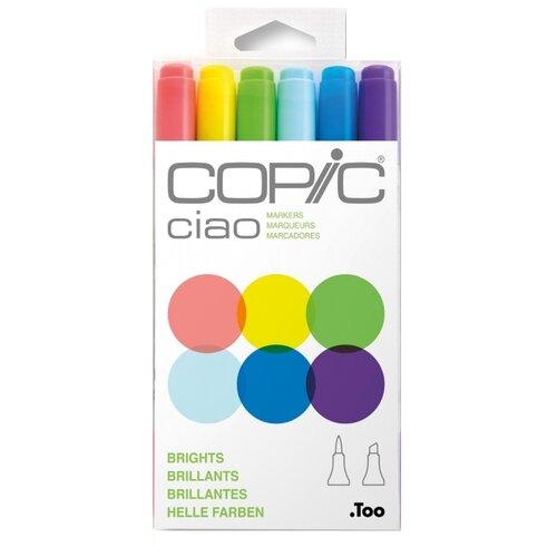 Купить COPIC набор маркеров Ciao Brights (H22075-665), 6 шт., Фломастеры