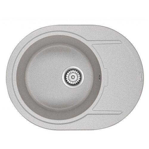 Врезная кухонная мойка 65 см Paulmark Oval PM316502 серый