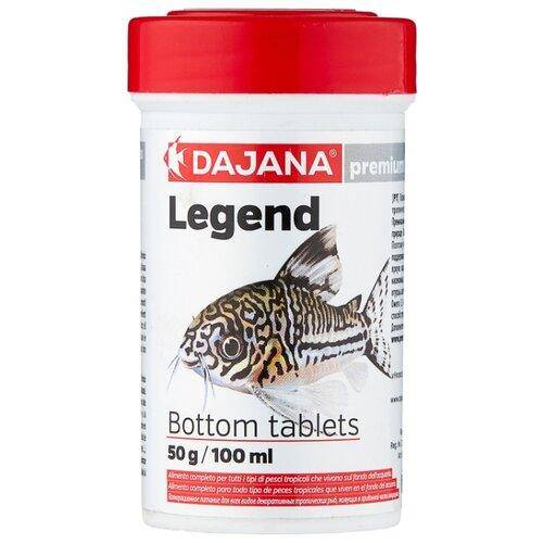 Сухой корм для рыб Dajana Pet Legend Bottom Tablets 100 мл 50 г sera sera fd mixpur корм для рыб сублимированный мотыль трубочник дафния криль 100 мл