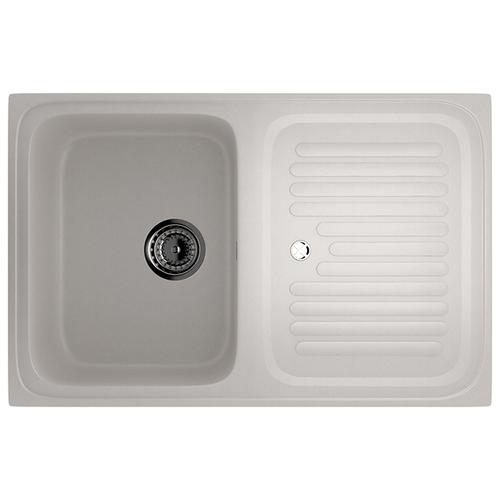 Врезная кухонная мойка 76 см Ulgran U-502 331 белый кухонная мойка и смеситель ulgran u 110 белый