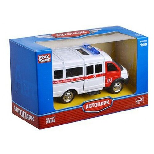 Микроавтобус Play Smart Скорая помощь (6404A) 1:50 белый