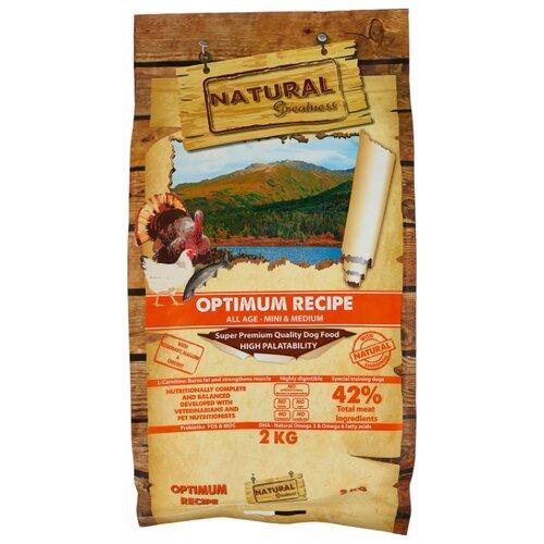 Корм для собак NATURAL Greatness (2 кг) Optimum Recipe Mini & Medium greatness