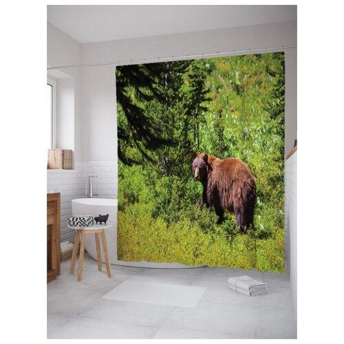 Штора для ванной JoyArty Медведь в лесу 180х200 (sc-4299) разноцветный