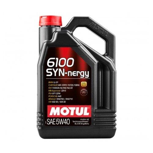 Моторное масло Motul 6100 SYN-nergy 5W40 4 л