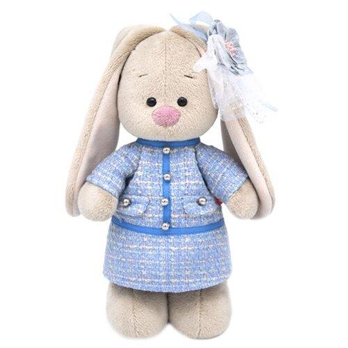 Фото - Мягкая игрушка Зайка Ми в голубом платье в клетку 25 см мягкая игрушка зайка ми в лиловом 23 см