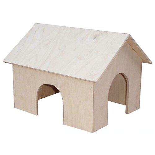 Домик для грызунов Дарэлл 8502 25х30х25 см бежевый