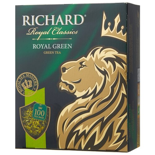 Чай зеленый Richard Royal green в пакетиках, 100 шт. чай листовой richard royal ceylon dogs
