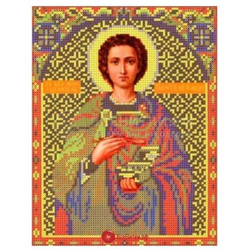Купить Канва для вышивания с рисунком NOVA SLOBODA Св. Пантелеймон БИС-9033, многоцветный 21 х 30 см