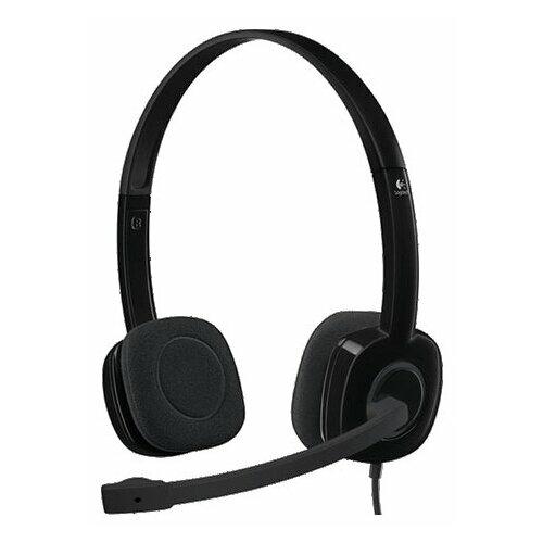цена на Компьютерная гарнитура Logitech Stereo Headset H151 черный