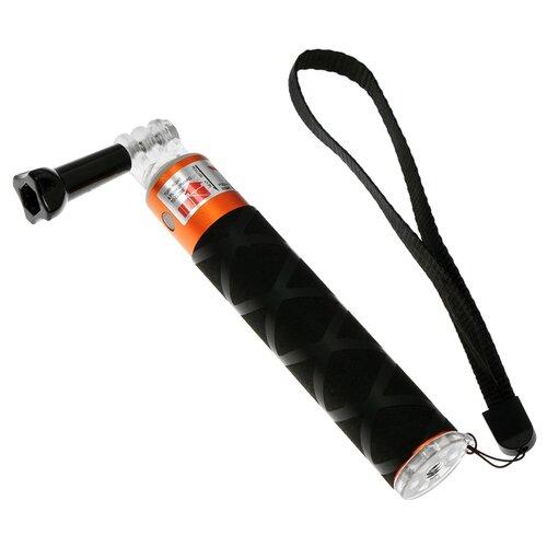 Монопод для селфи LuazON 4598014 черный/оранжевый недорого