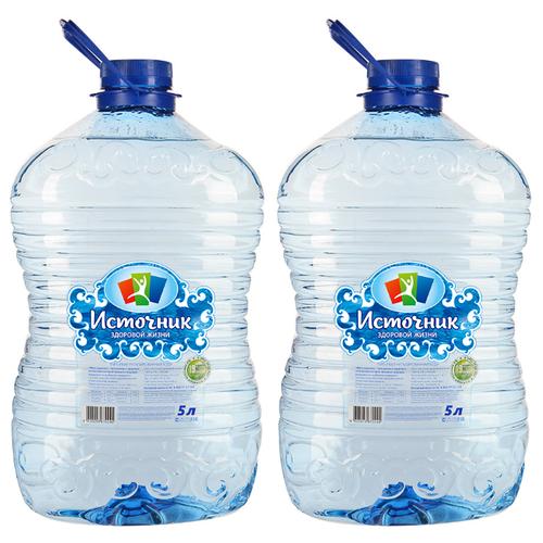Вода питьевая Источник здоровой жизни негазированная ПЭТ, 2 шт. по 5 л истэль вода талая негазированная 12 шт по 0 5 л