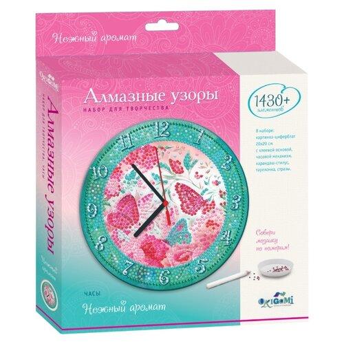 Origami Набор алмазной вышивки Нежный аромат с часовым механизмом (04736) 20х20 см, Алмазная вышивка  - купить со скидкой