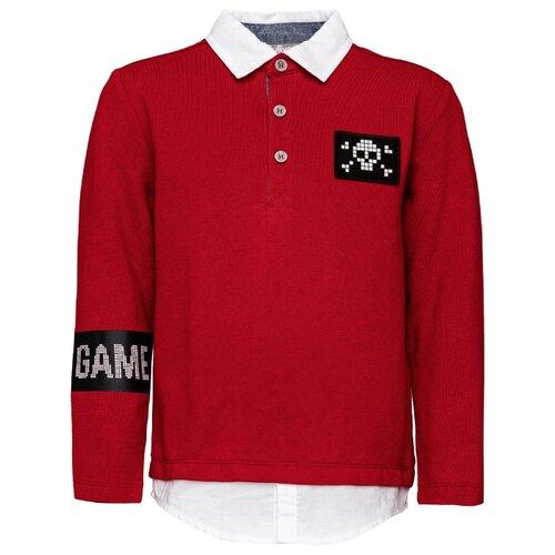 Поло Gulliver размер 104, красный футболка gulliver размер 104 красный