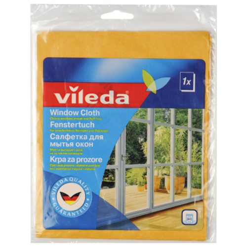 Салфетка Vileda для мытья окон оранжевыйТряпки, щетки, губки<br>