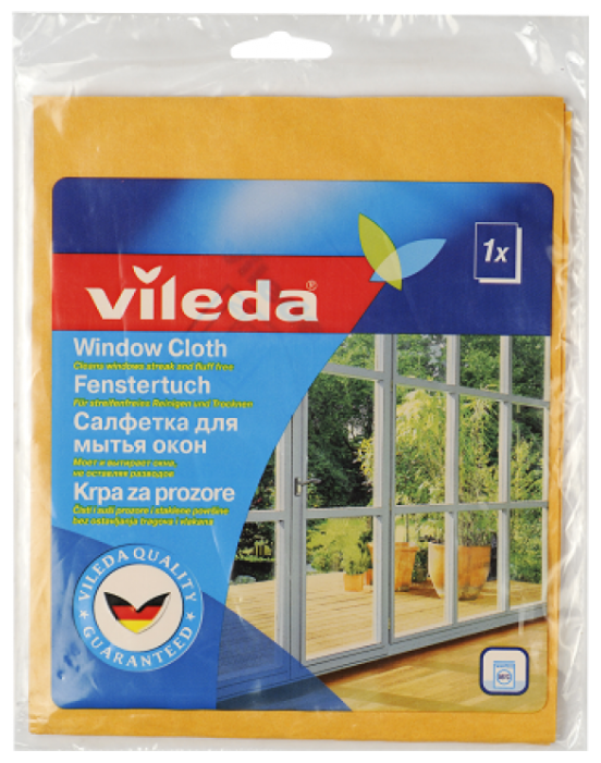 Салфетка Vileda для мытья окон 40х36