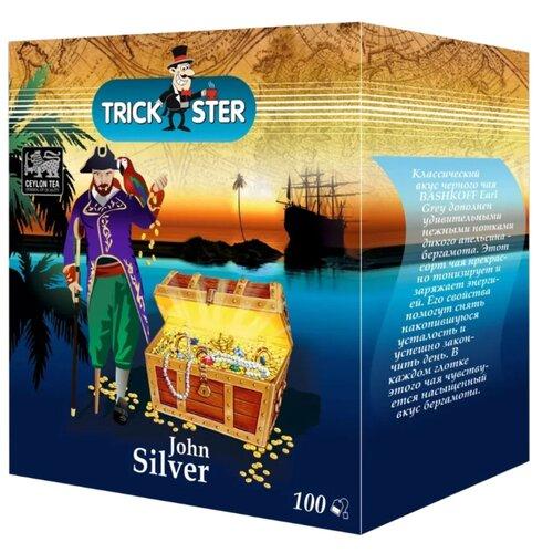 Чай черный Trickster John Silver в пакетиках, 100 шт.Чай<br>