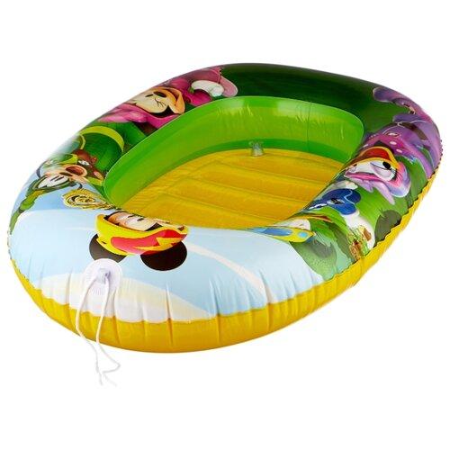 Надувная лодочка Bestway Kiddie Raft 91003 BW зеленый/желтый/фиолетовый надувная лодочка bestway рыбки 34036 bw желтый