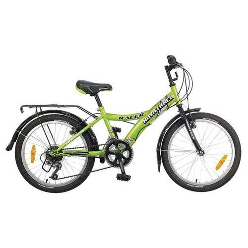 Подростковый горный (MTB) велосипед Novatrack Racer 20 12 (2017) зеленый (требует финальной сборки)