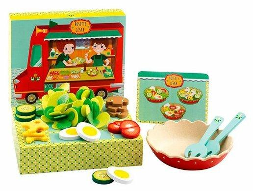 Набор продуктов с посудой DJECO Салаты Розет и Цезаря 06536