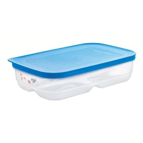 Tupperware Контейнер «Умный холодильник» для мяса и рыбы 1800 мл прозрачный/синий