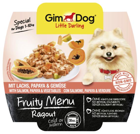 Корм для собак GimDog Little Darling Fruity Menu рагу из лосося, папайи и овощей
