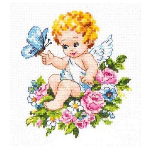 Чудесная Игла Набор для вышивания Ангел нашей любви 12 х 15 см (35-19) набор для вышивания крестом чудесная игла утопаю в любви 13 х 12 см