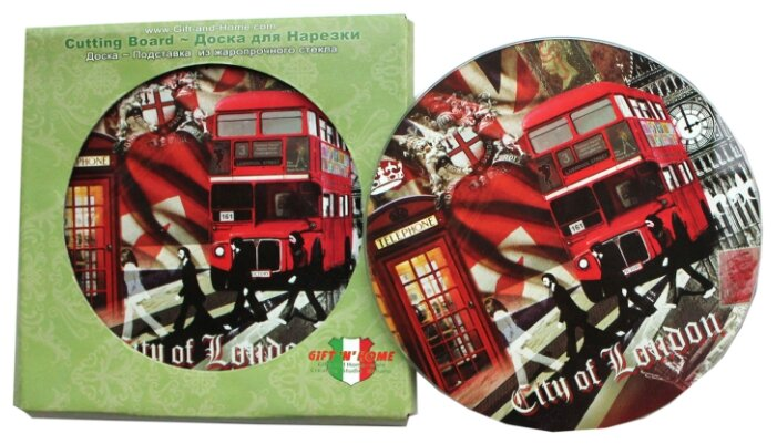 Разделочная доска Gift'n'Home Лондонские фантазии RCB-London 19x0.4 см
