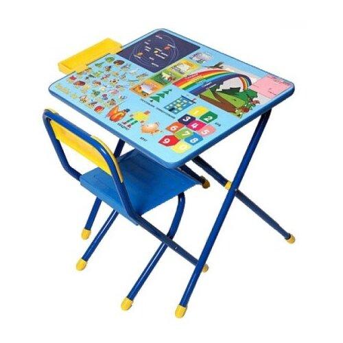 Купить Комплект ДЭМИ стол + стул №1 Радуга 60x45 см синий, Парты и столы