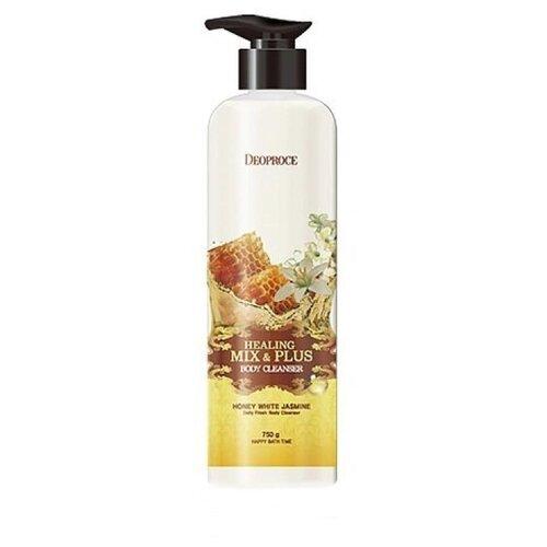 Купить Гель для душа Deoproce Healing mix&plus Мёд и жасмин, 750 мл