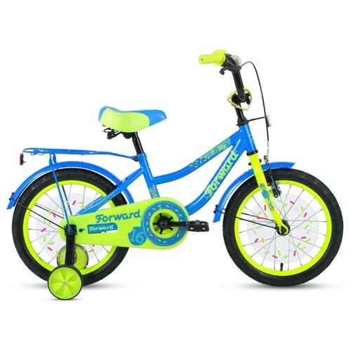 Детский велосипед FORWARD Funky 16 (2020) голубой/светло-зеленый (требует финальной сборки)