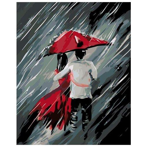 Купить Картина по номерам Живопись по Номерам Пара под зонтом 3 , 40x50 см, Живопись по номерам, Картины по номерам и контурам